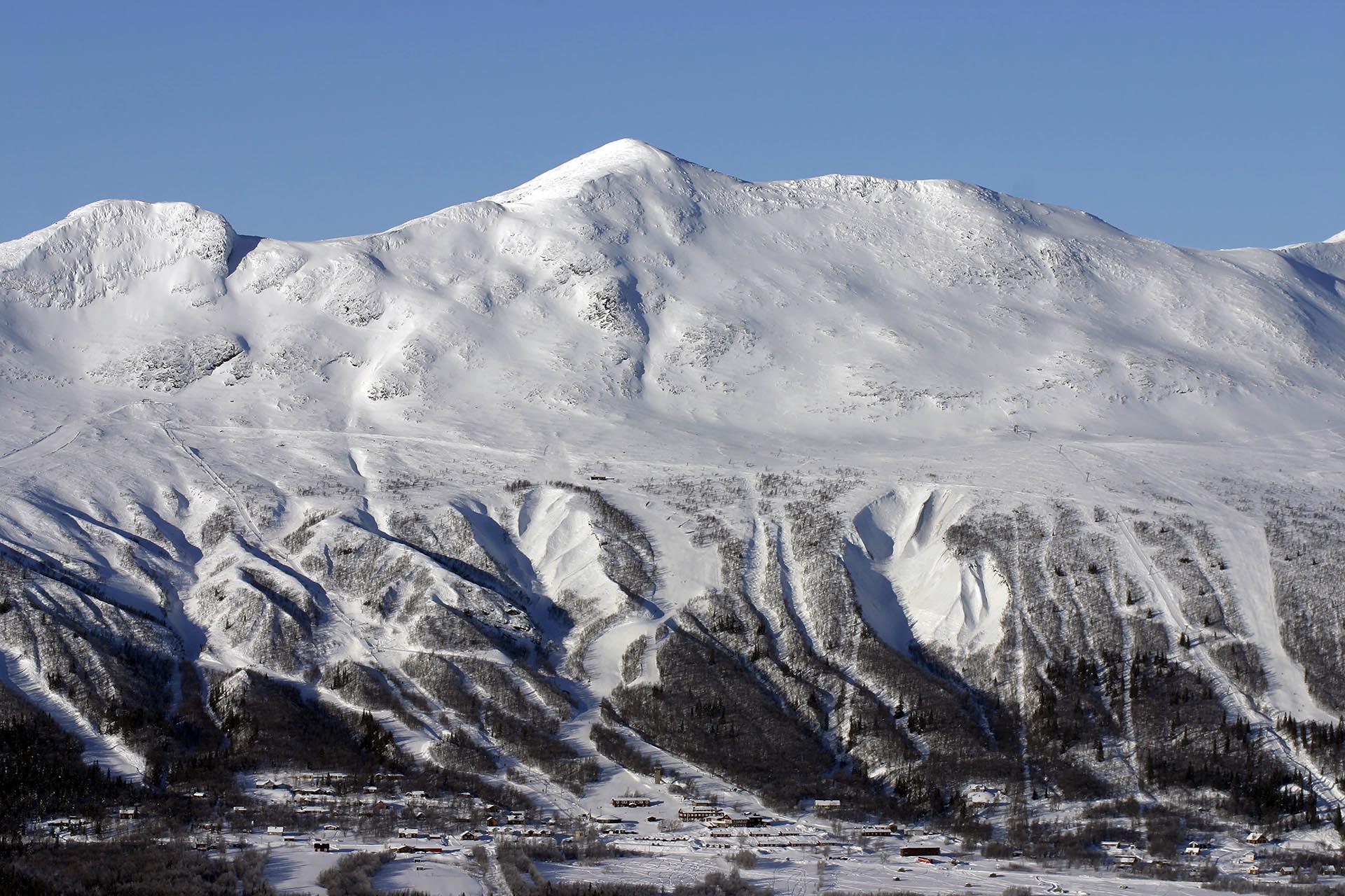 Berg med snö i Kittelfjäll, Västerbotten