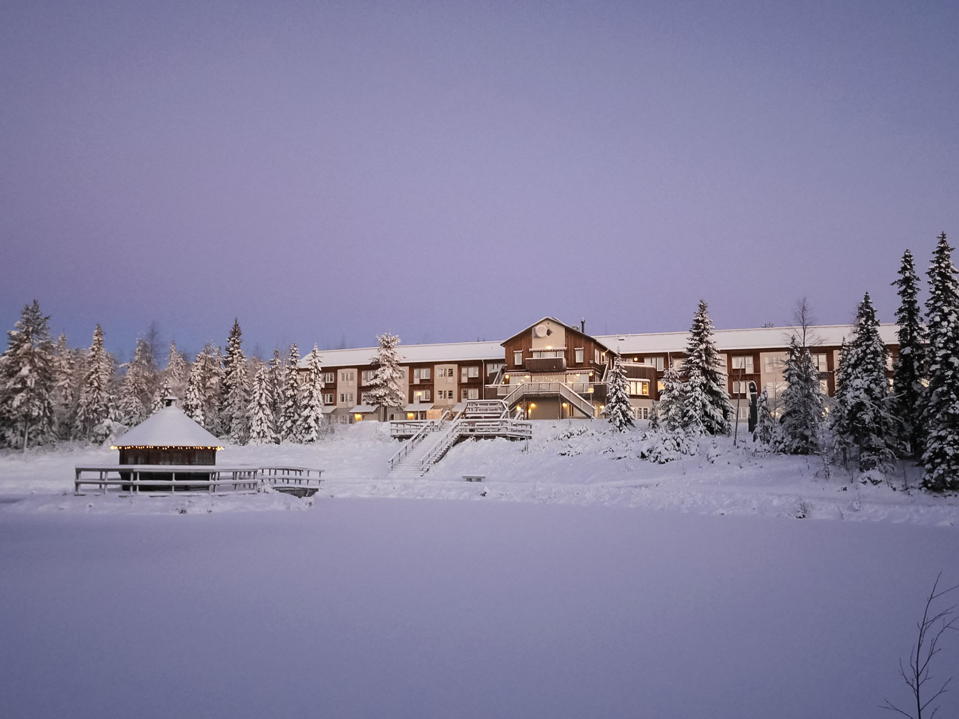 Källan Hotell på vintern