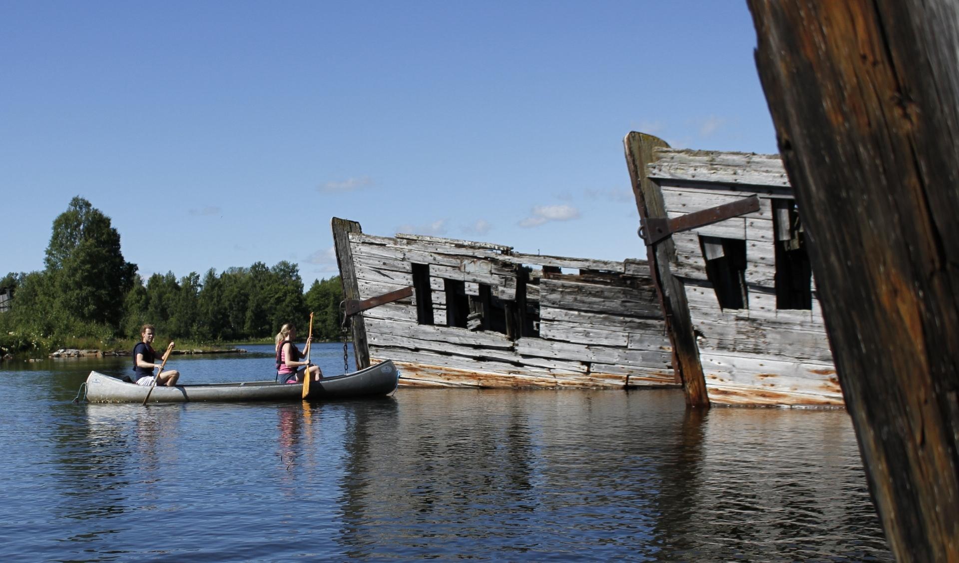 Sommar och kanot på Norrbyskärs museum